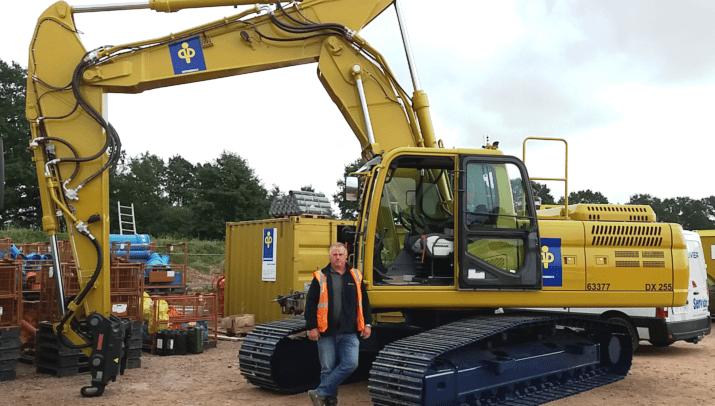 Depenbrock Bau GmbH & Co. KG – DOOSAN DX255NLC-5 in Sonderlackierung