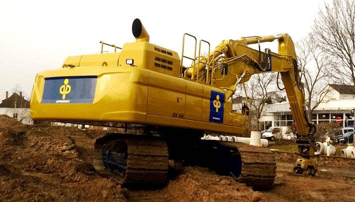 Depenbrock Bau GmbH & Co. KG – DOOSAN DX340-3 in Sonderlackierung