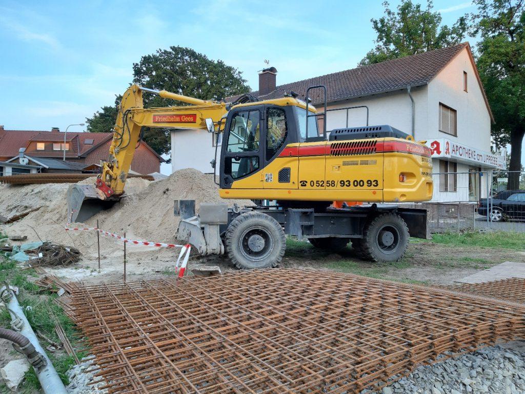 Bagger und Kies Friedhelm Gees GmbH & Co. KG – DOOSAN DX190-3 mit doppelter Abstützung